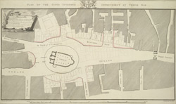 Plan of the Citys intended improvement at Temple Bar